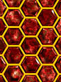 Reflexions : Honeycomb : Red Gold